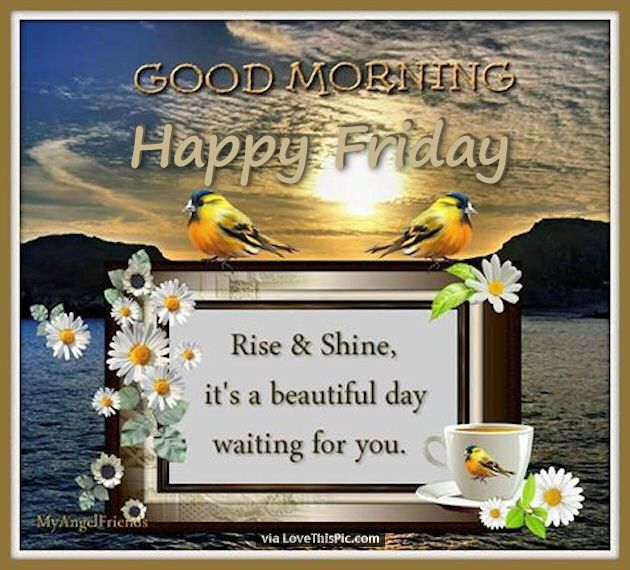 Good Morning Rise And Shine In German : Good morning happy friday rise and shine pictures photos