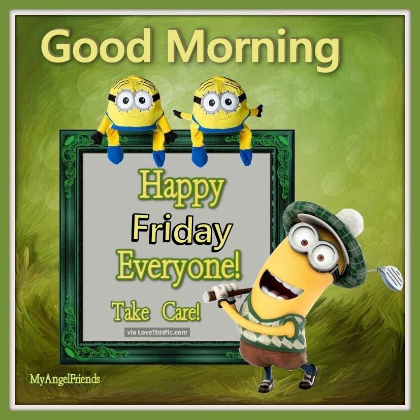 Good Morning Everyone Clipart : Good morning happy friday minions pictures photos and