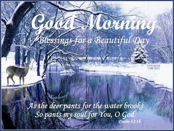 Good morning blessings for a beautiful day winter quote pictures good morning blessings for a beautiful day winter quote m4hsunfo