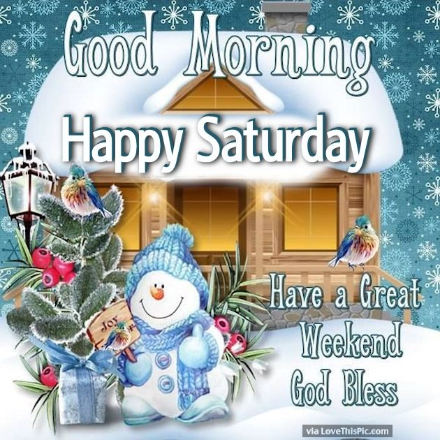 Image result for happy saturday winter images