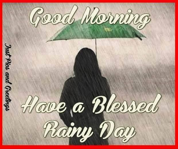 Funny Quotes About Rainy Days: Good Morning Have A Blessed Rainy Day QUote Pictures