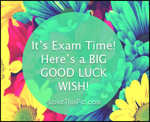 Good Luck On Your Exam Quotes: It's Exam Time Good Luck Pictures, Photos, And Images For