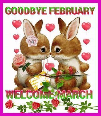 Goodbye February Hello March Design