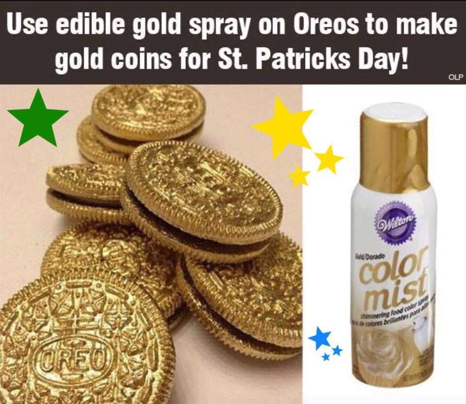 Use Edible Gold To Spray On Oreos