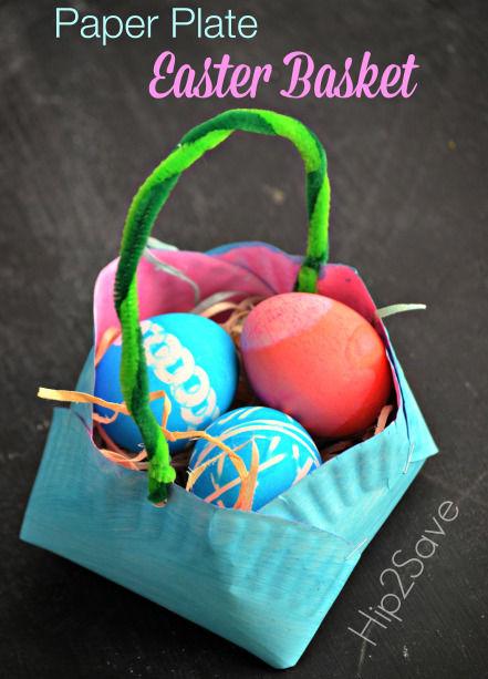Homemade Paper Plate Easter Basket & Homemade Paper Plate Easter Basket Pictures Photos and Images for ...
