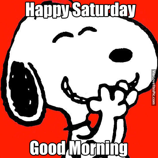Good Morning Snoopy Quotes : Happy saturday good morning pictures photos and images