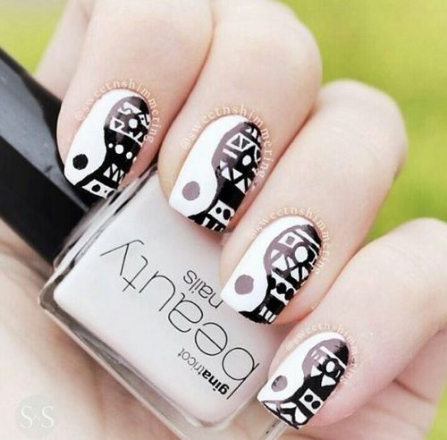 Yin yang tribal nails pictures photos and images for facebook yin yang tribal nails prinsesfo Image collections