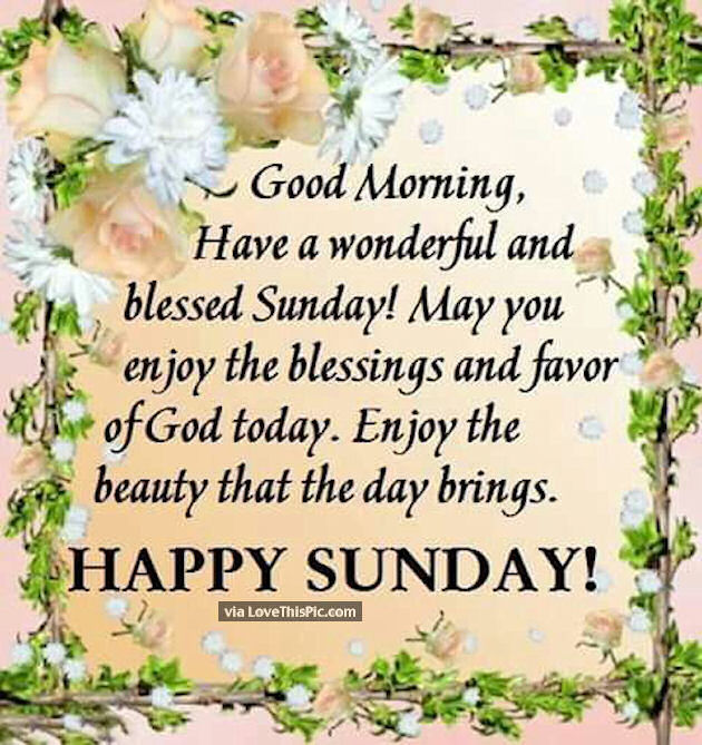 good morning have a wonderful and blessed sunday pictures
