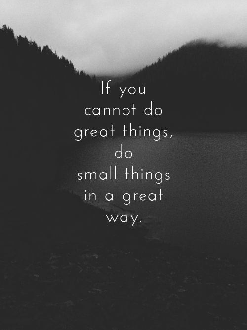 If You Do What You Like At Least One Person Will Be: If You Cannot Do Great Things, Do Small Things In A Great