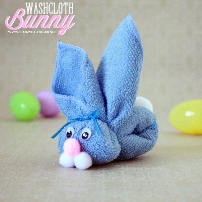 washcloth bunny kids craft pictures photos and images