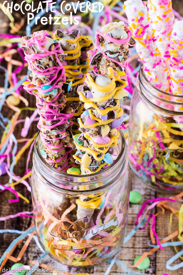 Spring Chocolate Covered Pretzels Pictures, Photos, and ...