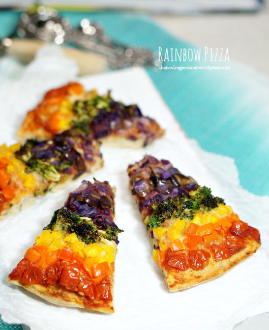 Rainbow Pizza With Kale Parmesan Crust Pictures, Photos, and Images ...