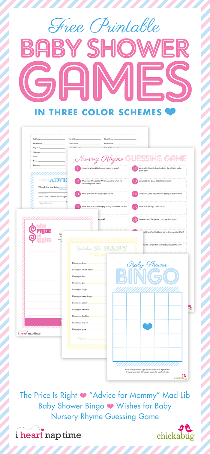 free printable girl baby shower games