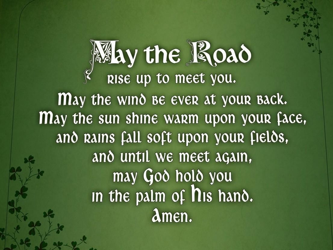 may the road rise to meet you notenboom