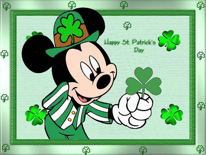 Happy St Patricks Day From Mickey Mouse Pictures, Photos
