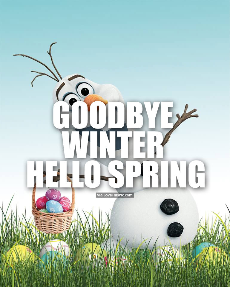goodbye winter hello spring pictures photos and images