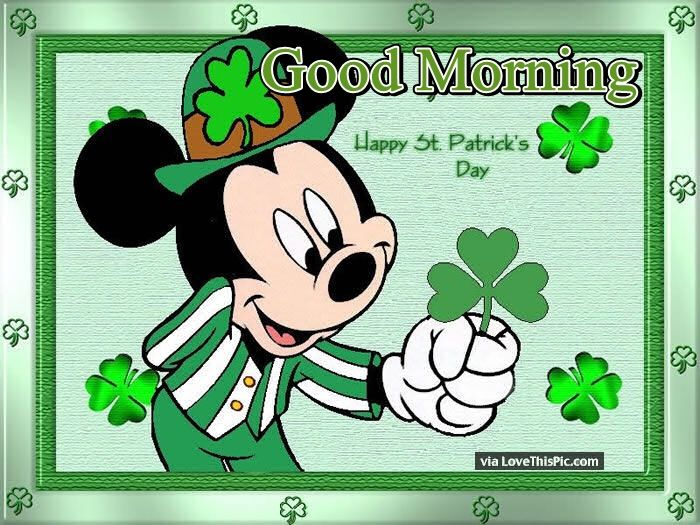 disney good morning happy st patricks day pictures photos and