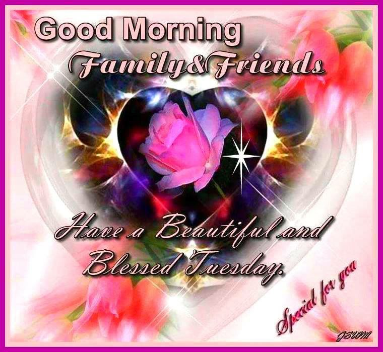 Good Morning My Beautiful Friend Quotes: Good Morning Family And Friends Have A Beautiful Tuesday