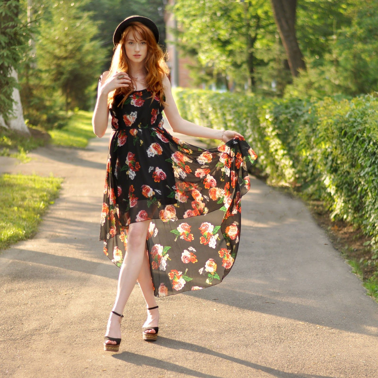 Floral High Low Spring-Summer Dress Pictures, Photos, and Images ...