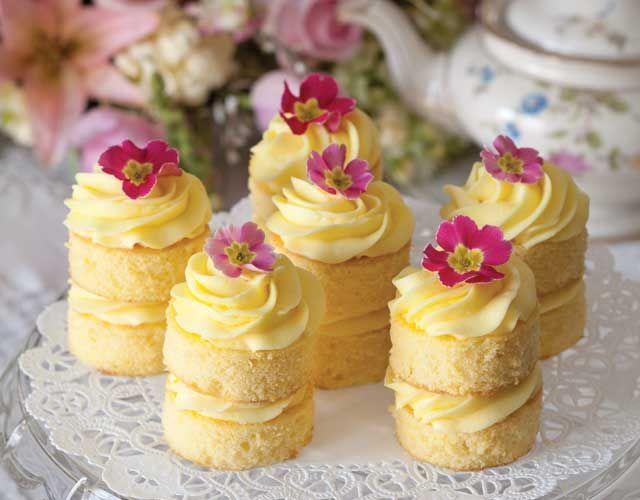 Pretty Spring Lemon Amp Lavender Fondant Fancies Pictures