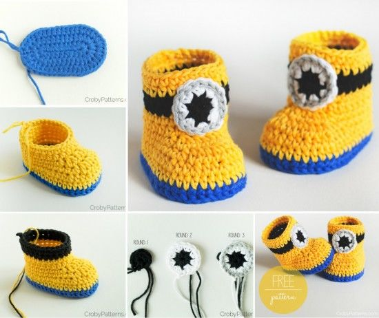 Minion Crochet Booties Pictures, Photos, and Images for ...