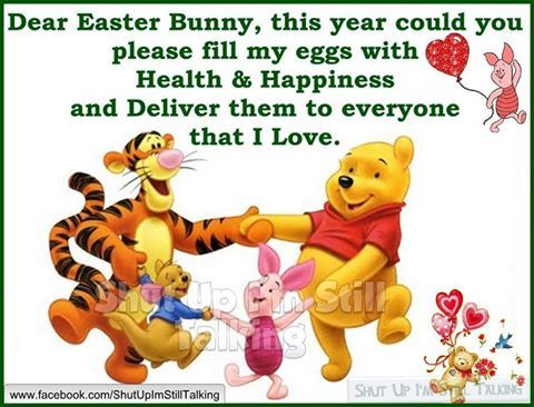 Dear Easter Bunny Please Fill My Eggs With Health And Happiness