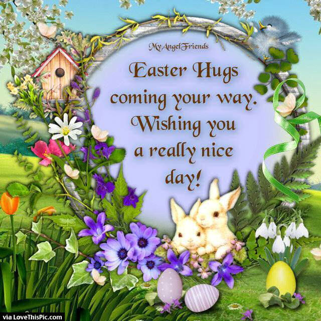 Happy Easter Pictures With Quotes: Easter Hugs Coming Your Way Pictures, Photos, And Images