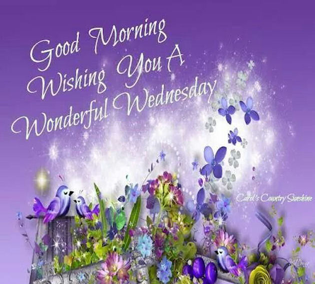 Good Morning Wishing You A Wonderful Wednesday Quote