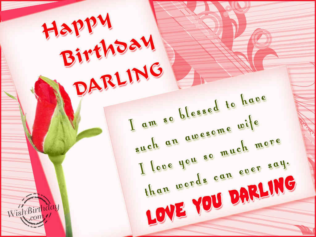 Happy Birthday Darling Pictures Photos And Images For Facebook