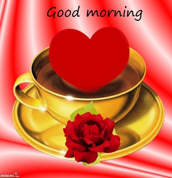 good morning coffee hearts