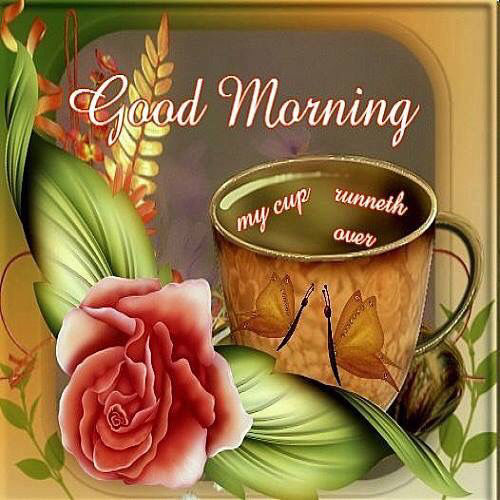Good Morning My Cup Runneth Over Pictures Photos And