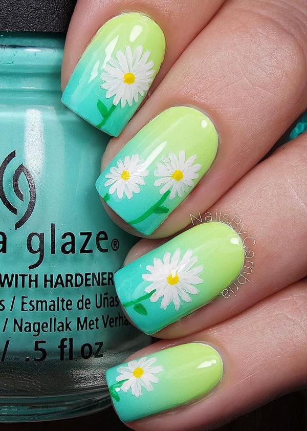 Neon Ombre Daisy Nails Pictures, Photos, and Images for Facebook ...