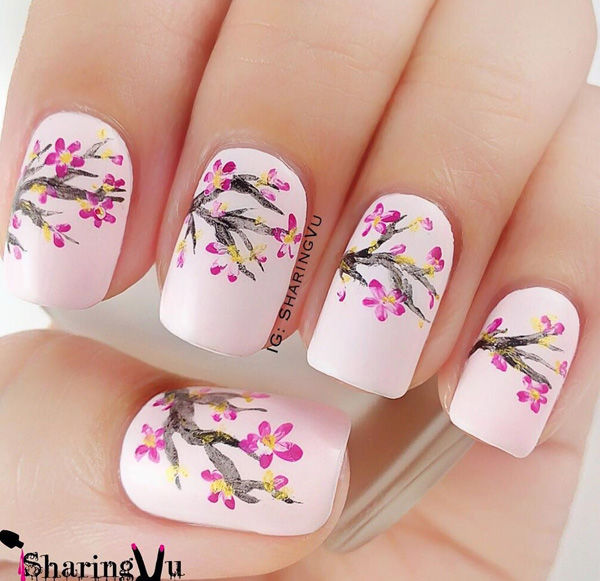 Cherry Blossom Nails - Cherry Blossom Nails Pictures, Photos, And Images For Facebook