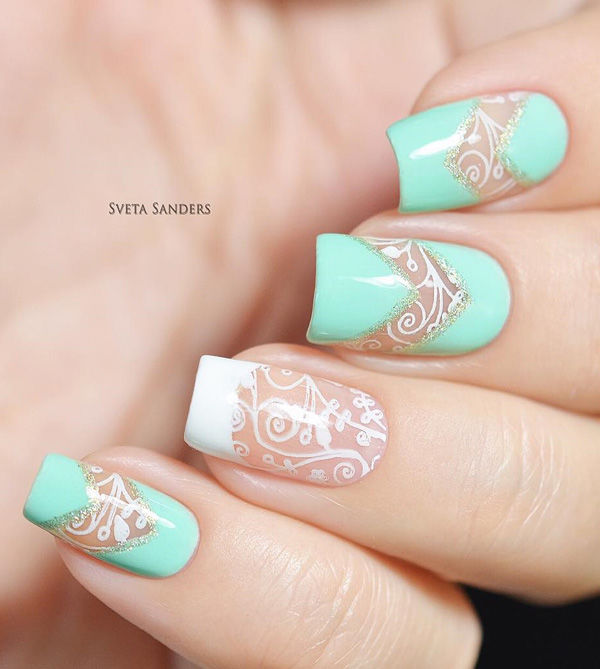 Light Blue Spring Nails Pictures, Photos, And Images For