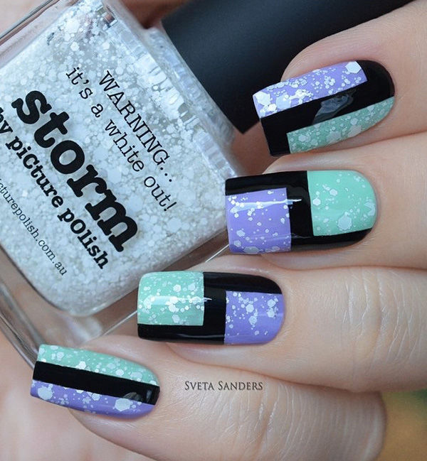 Blue And Purple Abstract Nail Art Pictures Photos And Images For