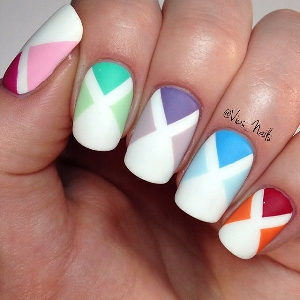X-Shaped Spring Nail Art Pictures, Photos, And Images For