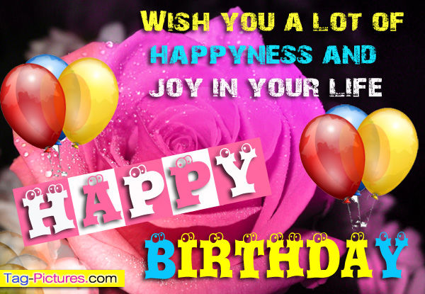 Wish You A Lot Of Happiness And Joy In Your Life Happy Birthday