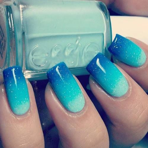 Blue Ombre Nails Pictures Photos And Images For Facebook Tumblr Pinterest And Twitter