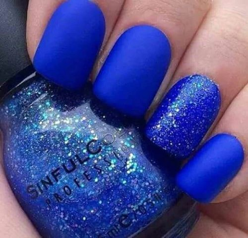 Navy Blue Glitter Nails Pictures, Photos, and Images for Facebook ...
