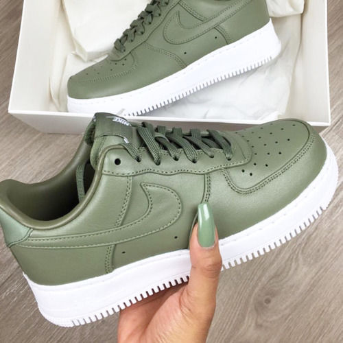 olive green nike air force 1 low