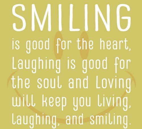 Image Quotes About Being Happy: Smiling Is Good For The Heart.... Pictures, Photos, And