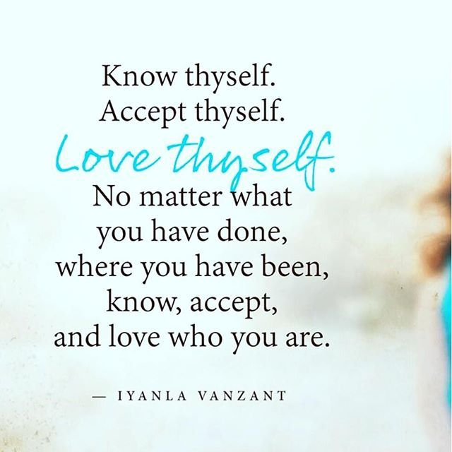How to love thyself