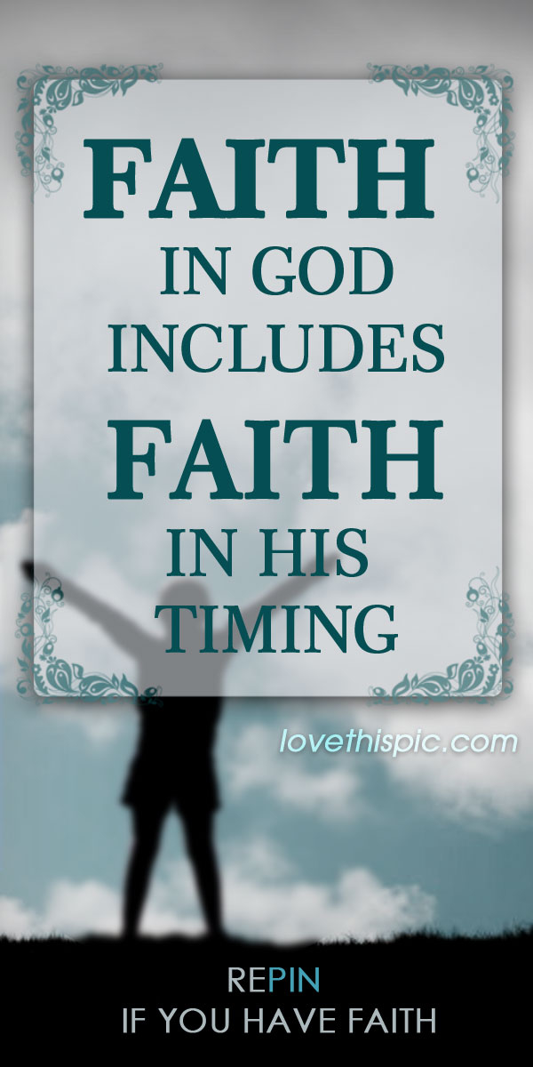 Religious Quotes About Faith Endearing Faith In God Pictures Photos And Images For Facebook Tumblr