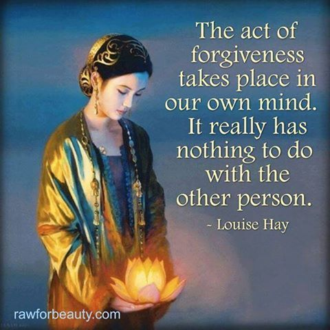 the act of forgiving Forgiveness does not condone the harmful act or make the wrong that  the act  of forgiveness releases you from the toxicity of hurtful and.