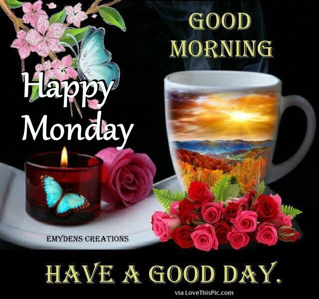 Good morning happy monday have a good day pictures photos - Good morning monday images ...