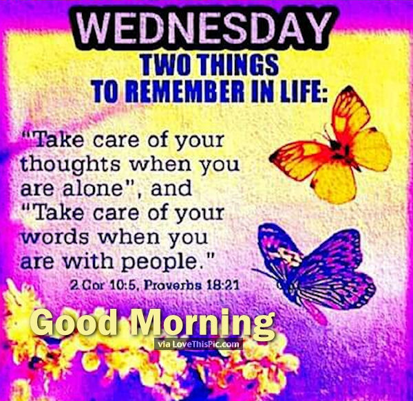 Good Morning Wednesday Inspirational Quote Image Pictures