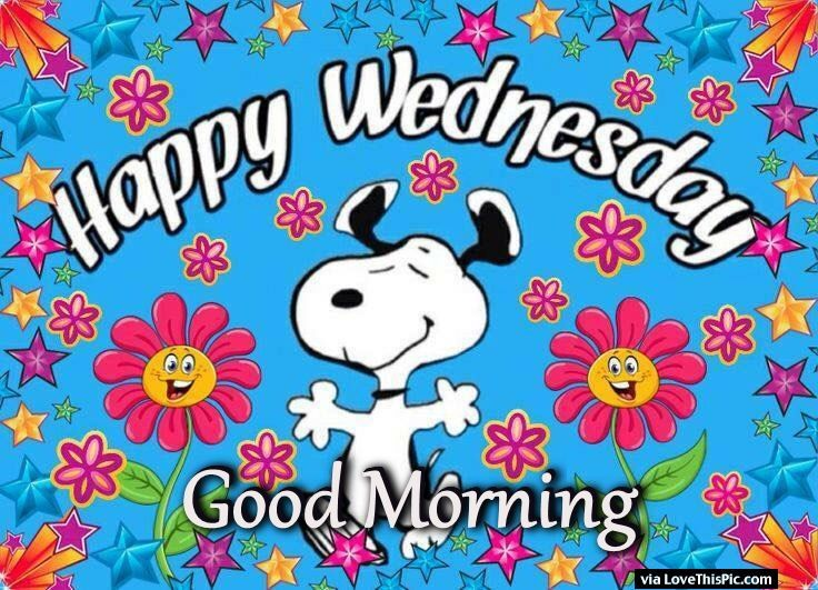 Snoopy Good Morning Happy Wednesday Image Quote Pictures