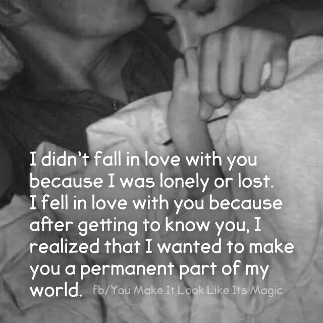 Love 4ever Quotes : Fell In Love With You After Getting To Know You Pictures, Photos ...