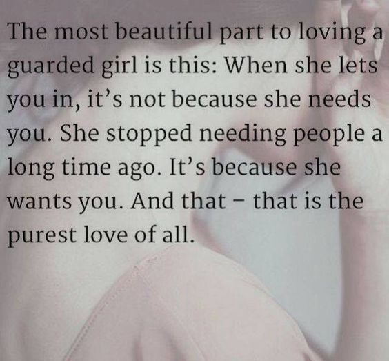 Love Finds You Quote: Loving A Guarded Girl Pictures, Photos, And Images For