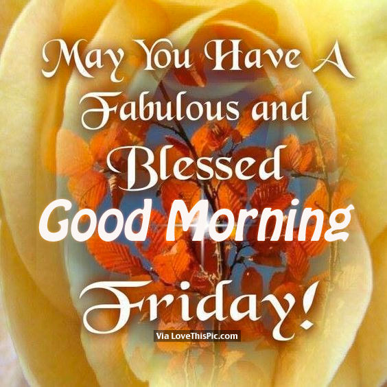 May You Have A Fabulous And Blessed Friday, Good Morning